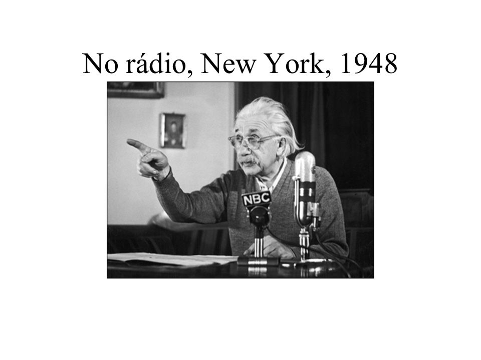No rádio, New York, 1948