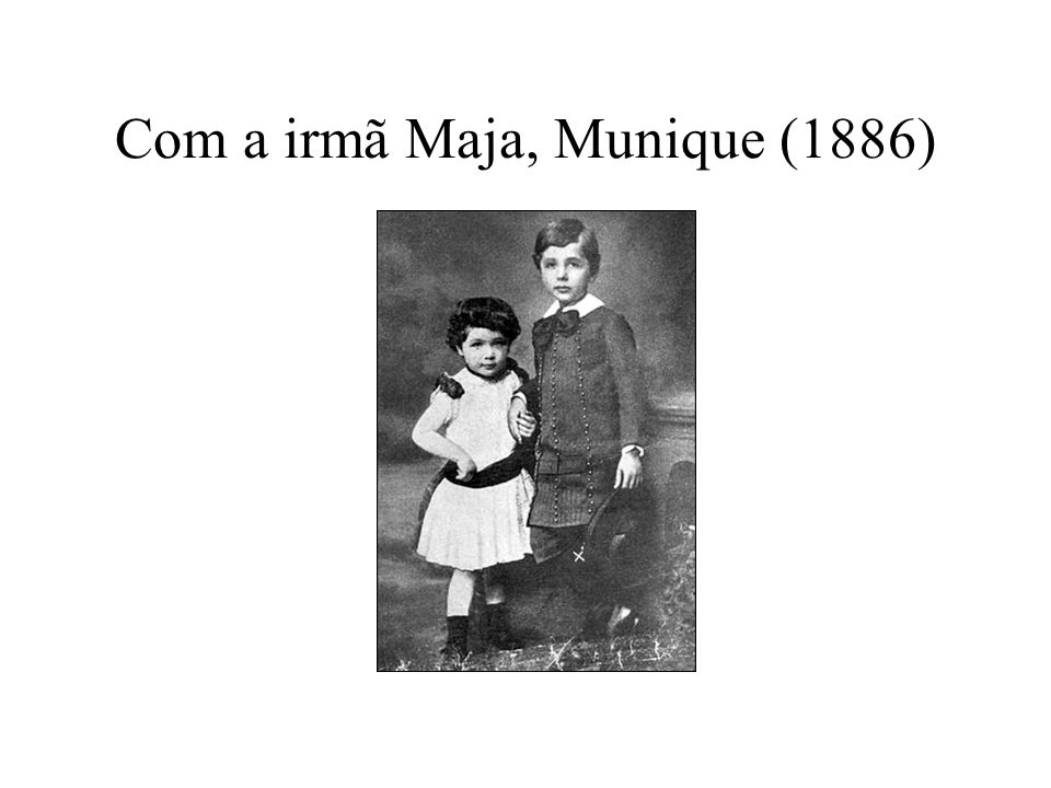 Com a irmã Maja, Munique (1886)
