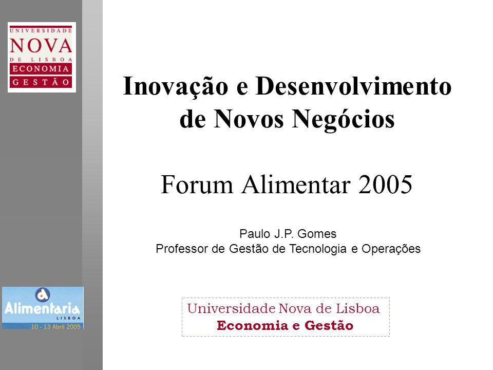 Inovação e Desenvolvimento de Novos Negócios Forum Alimentar 2005