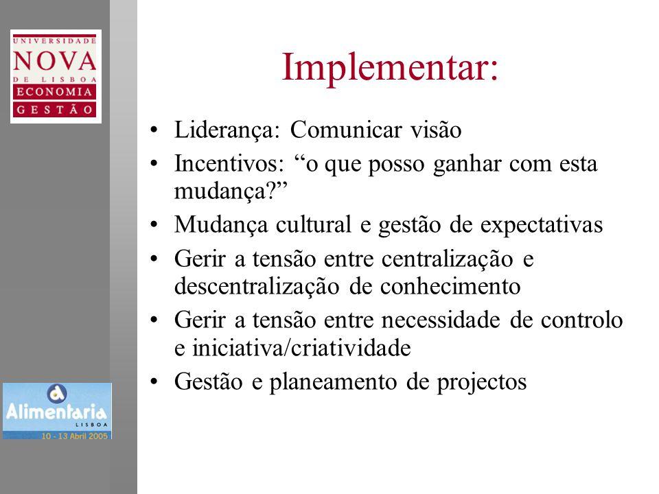 Implementar: Liderança: Comunicar visão