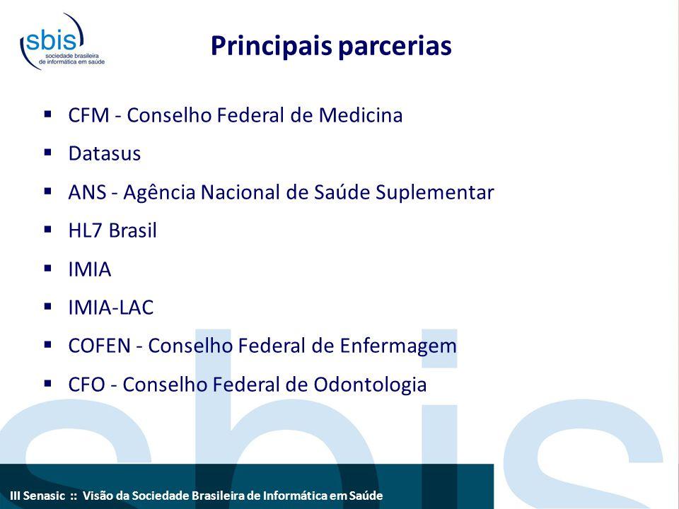 Principais parcerias CFM - Conselho Federal de Medicina Datasus