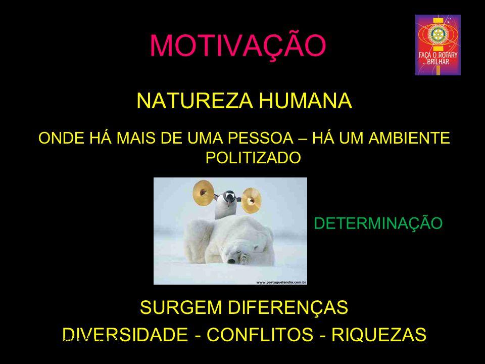 MOTIVAÇÃO NATUREZA HUMANA SURGEM DIFERENÇAS