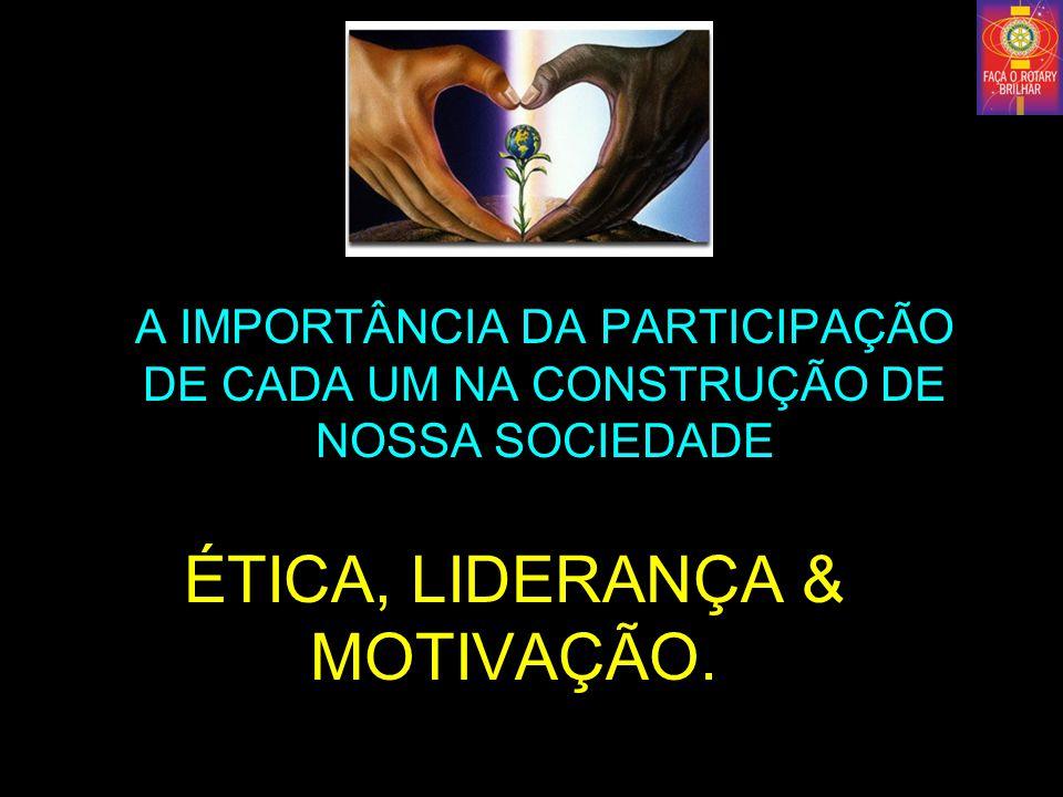 ÉTICA, LIDERANÇA & MOTIVAÇÃO.