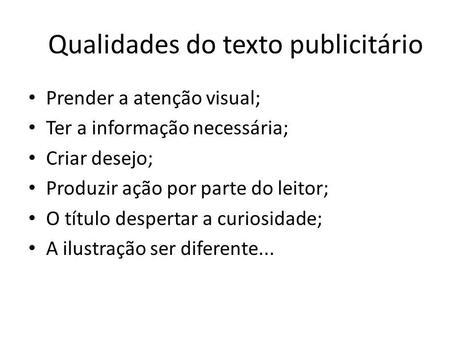Qualidades do texto publicitário