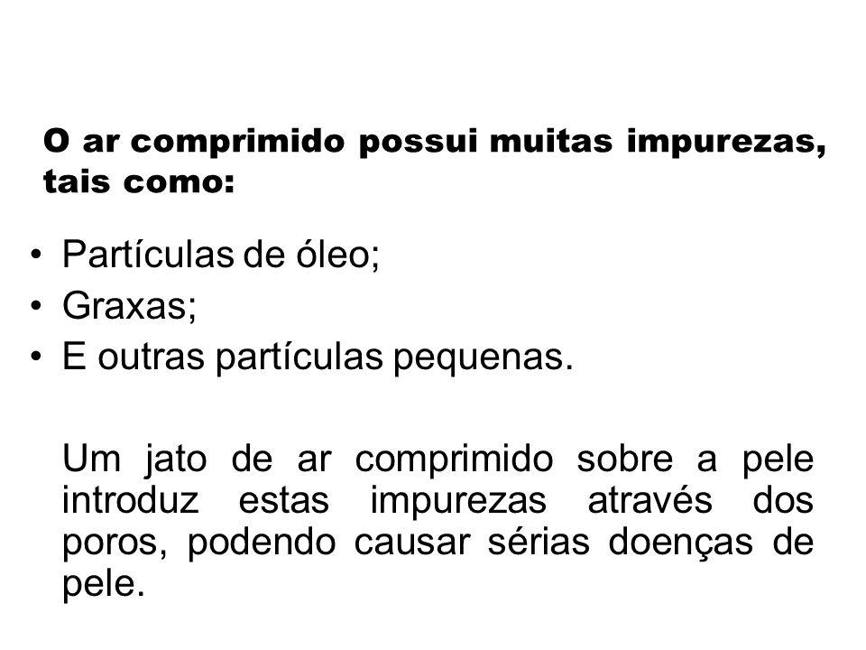 O ar comprimido possui muitas impurezas, tais como: