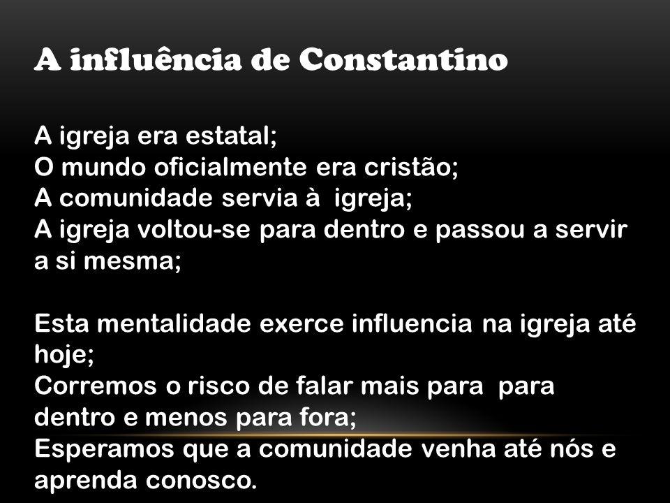 A influência de Constantino