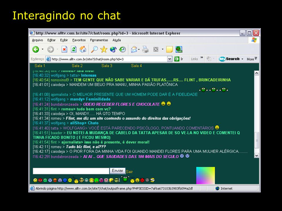 Interagindo no chat