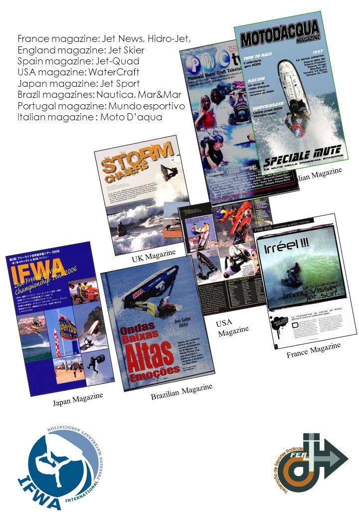 France magazine: Jet News, Hidro-Jet, England magazine: Jet Skier