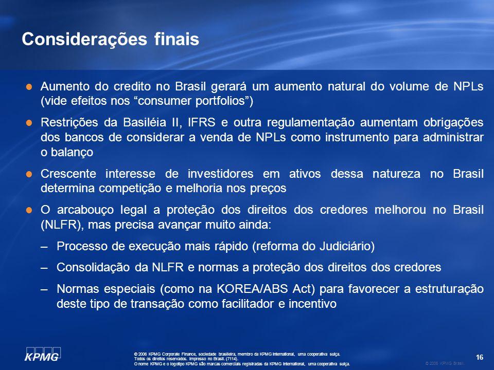Contatos: www.kpmg.com.br