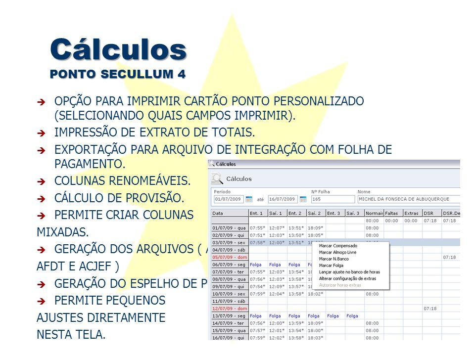 Cálculos PONTO SECULLUM 4