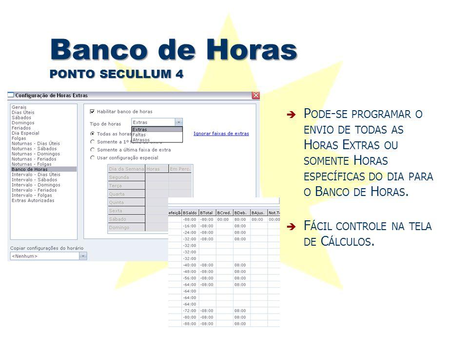 Banco de Horas PONTO SECULLUM 4
