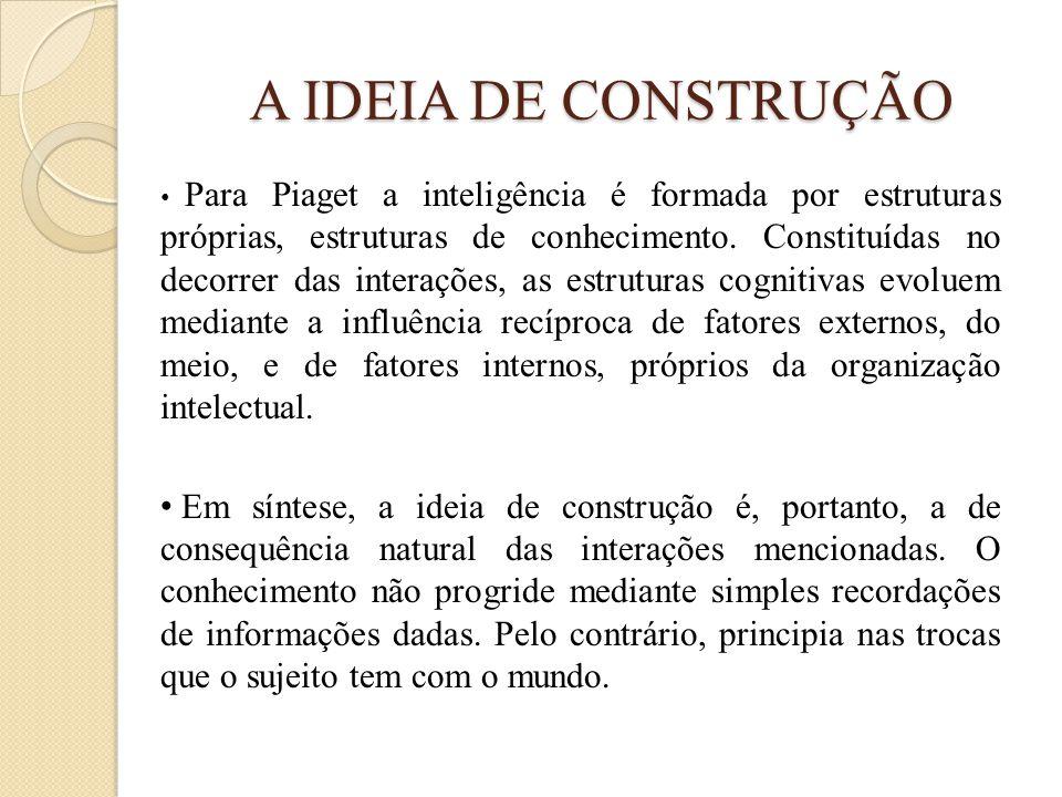 A IDEIA DE CONSTRUÇÃO