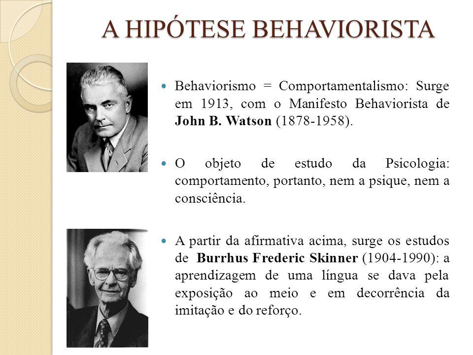 A HIPÓTESE BEHAVIORISTA