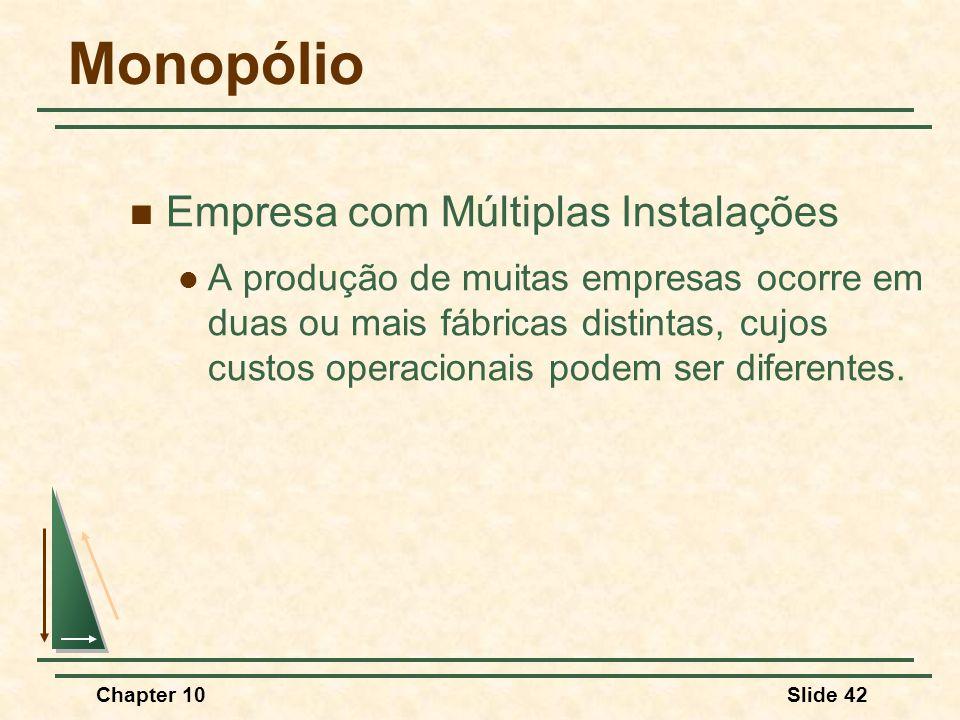 Monopólio Empresa com Múltiplas Instalações