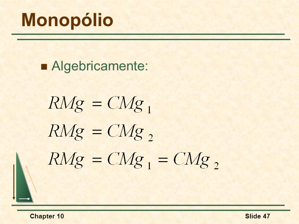 Monopólio Algebricamente: Chapter 10 3