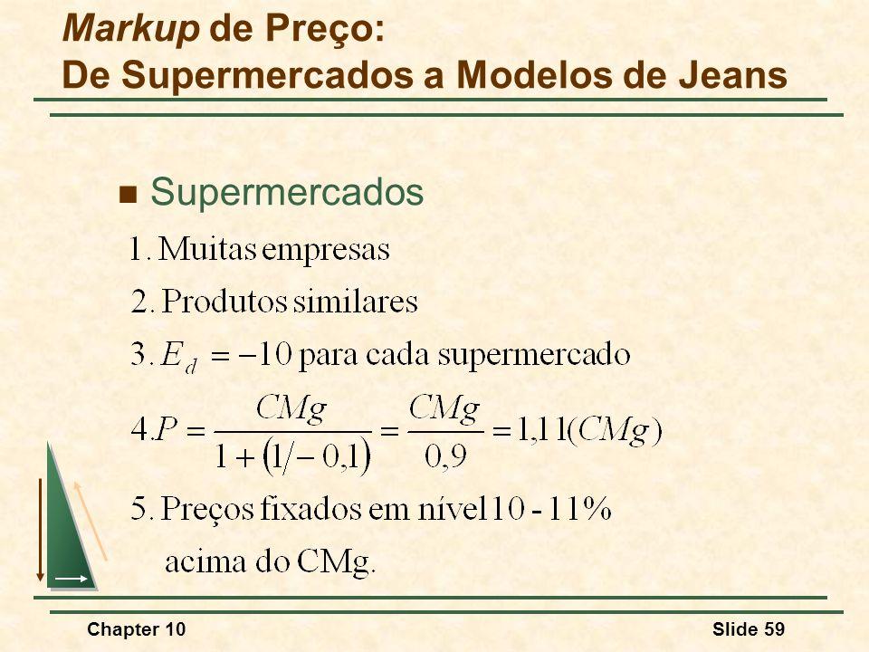 Markup de Preço: De Supermercados a Modelos de Jeans
