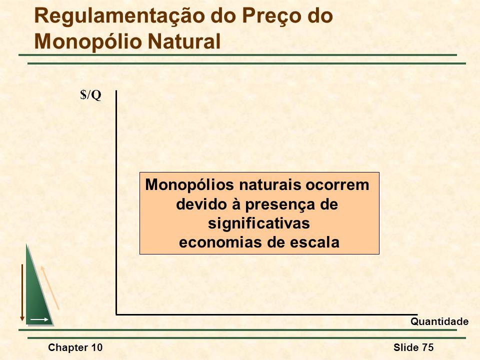 Regulamentação do Preço do Monopólio Natural