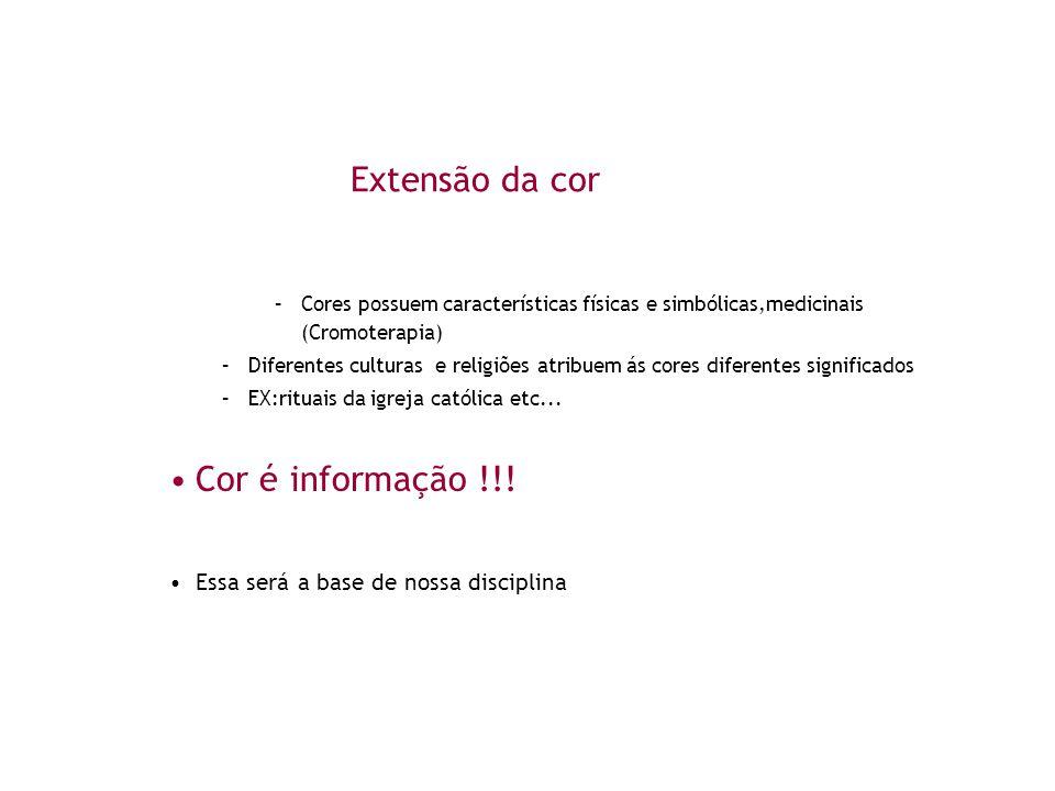 Extensão da cor Cor é informação !!!