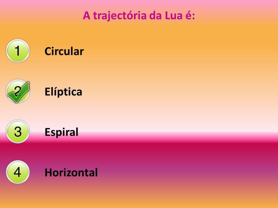 A trajectória da Lua é: Circular Elíptica Espiral Horizontal