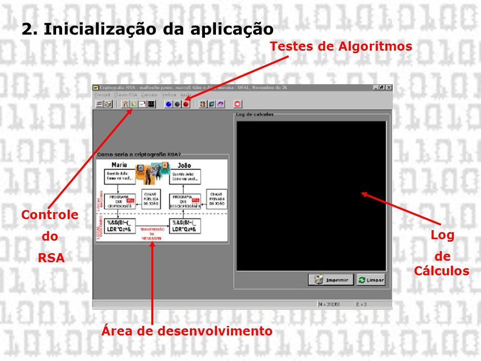 2. Inicialização da aplicação