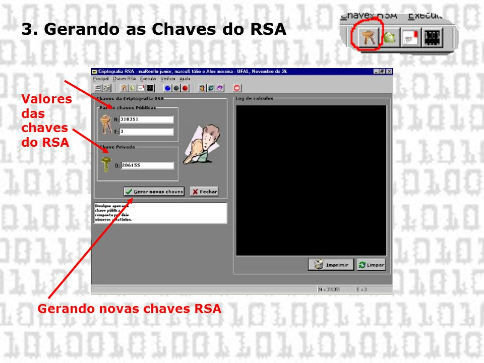 3. Gerando as Chaves do RSA