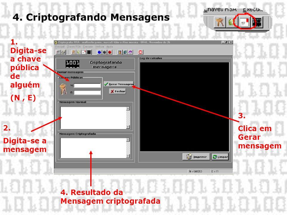 4. Criptografando Mensagens