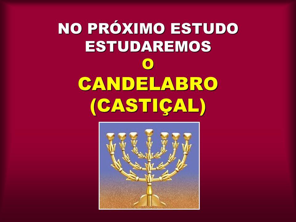 NO PRÓXIMO ESTUDO ESTUDAREMOS O CANDELABRO (CASTIÇAL)