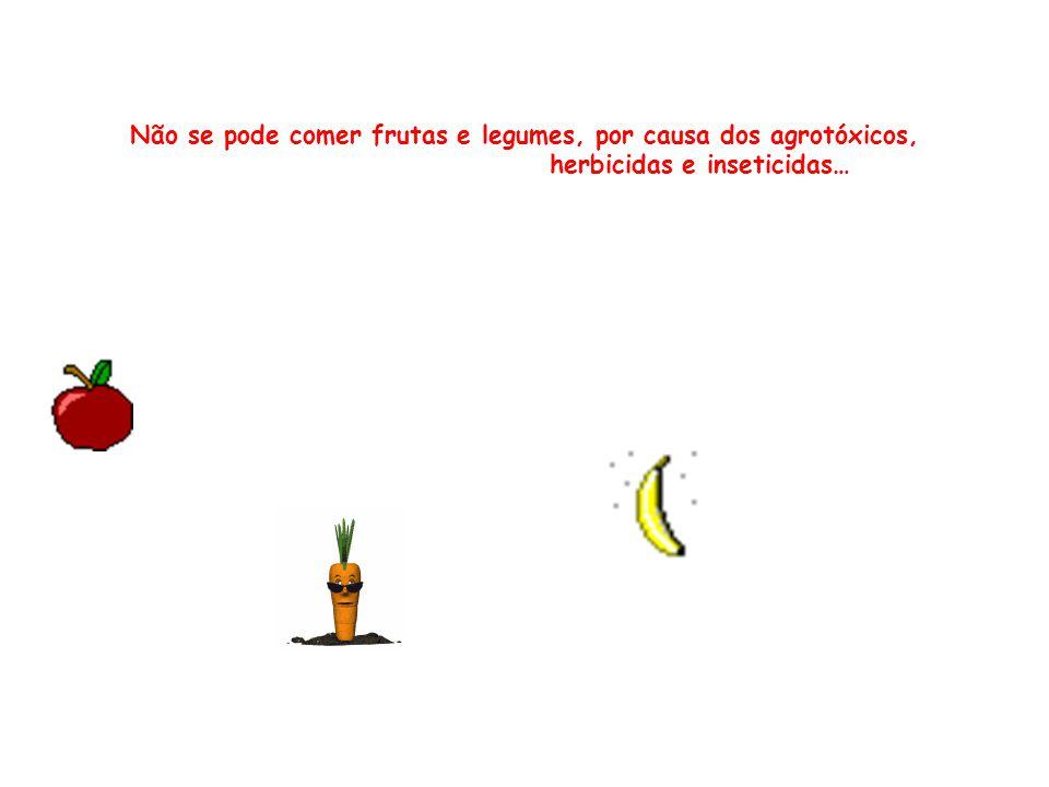 Não se pode comer frutas e legumes, por causa dos agrotóxicos,