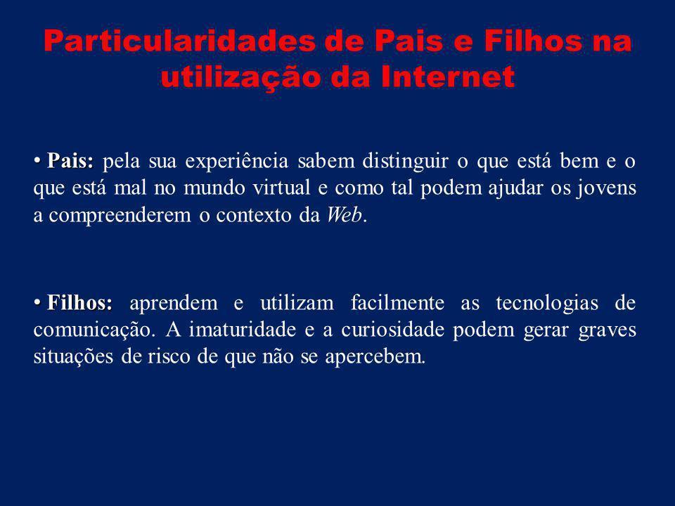 Particularidades de Pais e Filhos na utilização da Internet