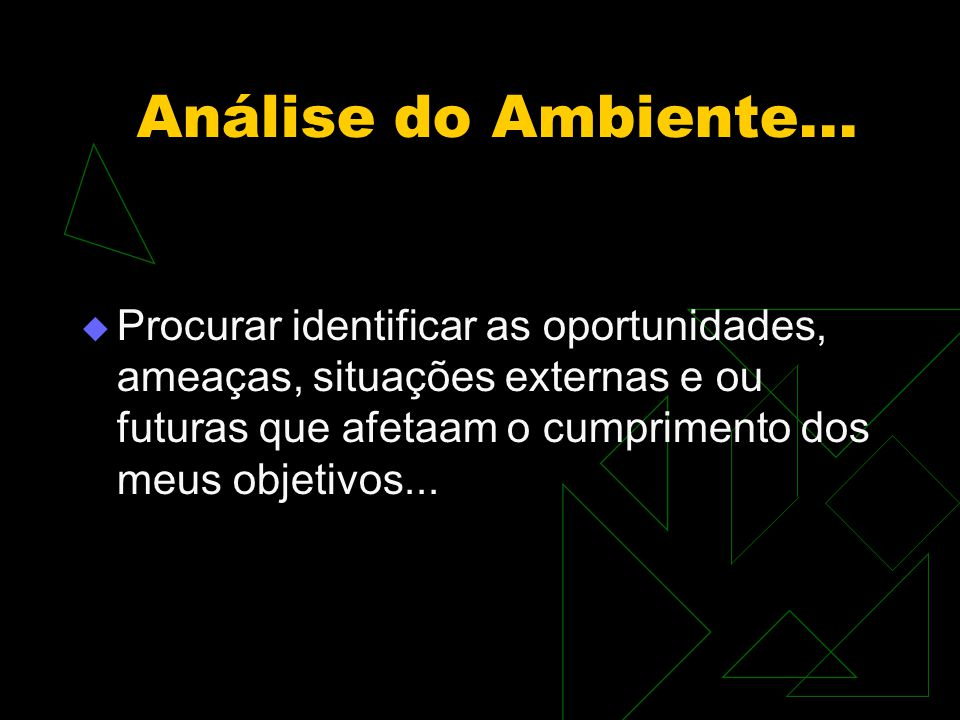 Análise do Ambiente...