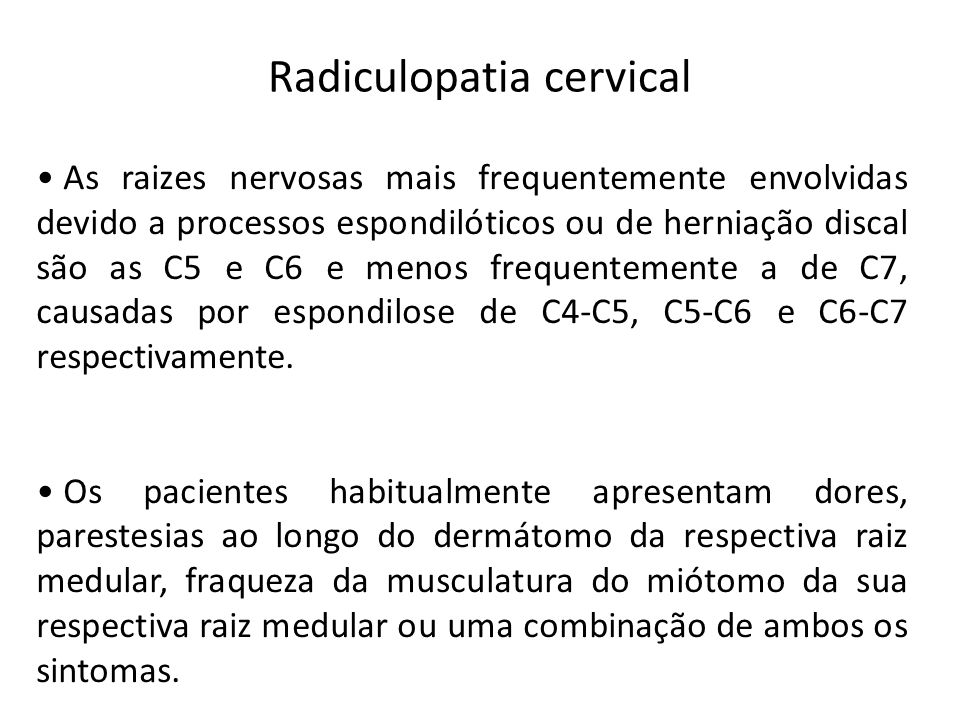 Radiculopatia cervical