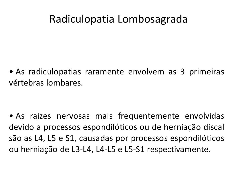 Radiculopatia Lombosagrada