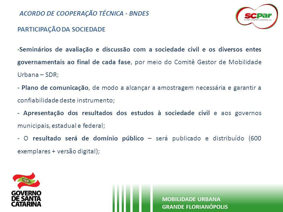 ACORDO DE COOPERAÇÃO TÉCNICA - BNDES