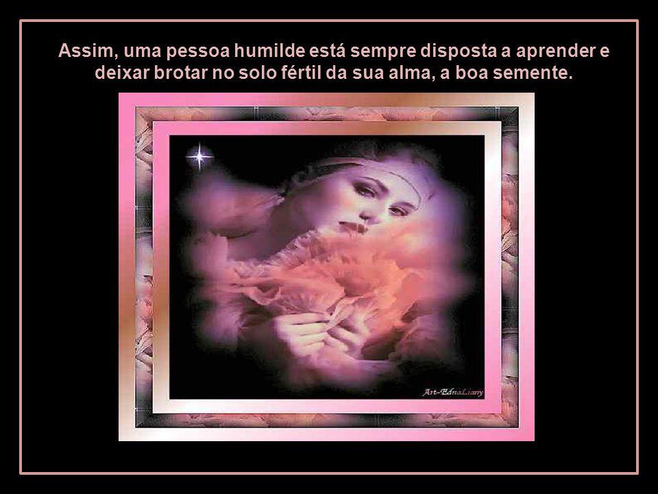 Assim, uma pessoa humilde está sempre disposta a aprender e deixar brotar no solo fértil da sua alma, a boa semente.