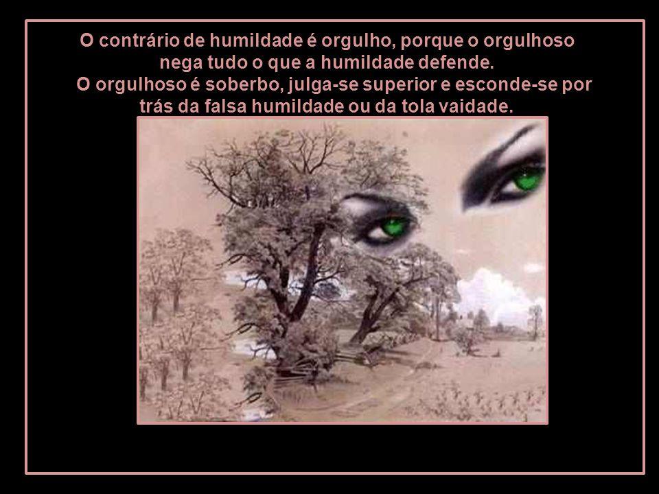 O contrário de humildade é orgulho, porque o orgulhoso nega tudo o que a humildade defende.