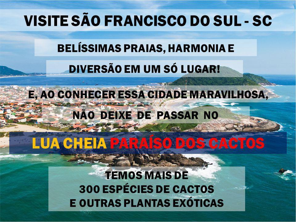 VISITE SÃO FRANCISCO DO SUL - SC LUA CHEIA PARAÍSO DOS CACTOS