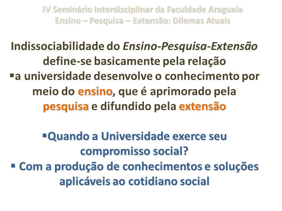 Quando a Universidade exerce seu compromisso social