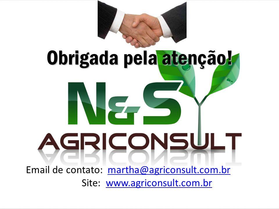 Obrigada pela atenção! Email de contato: martha@agriconsult.com.br Site: www.agriconsult.com.br