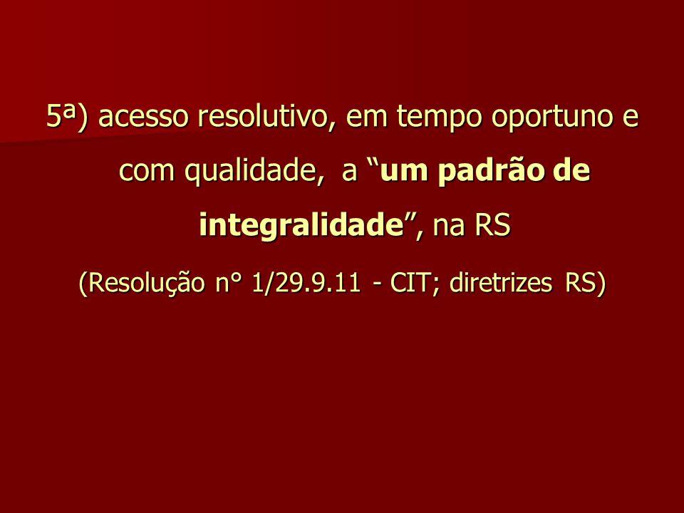 (Resolução n° 1/29.9.11 - CIT; diretrizes RS)