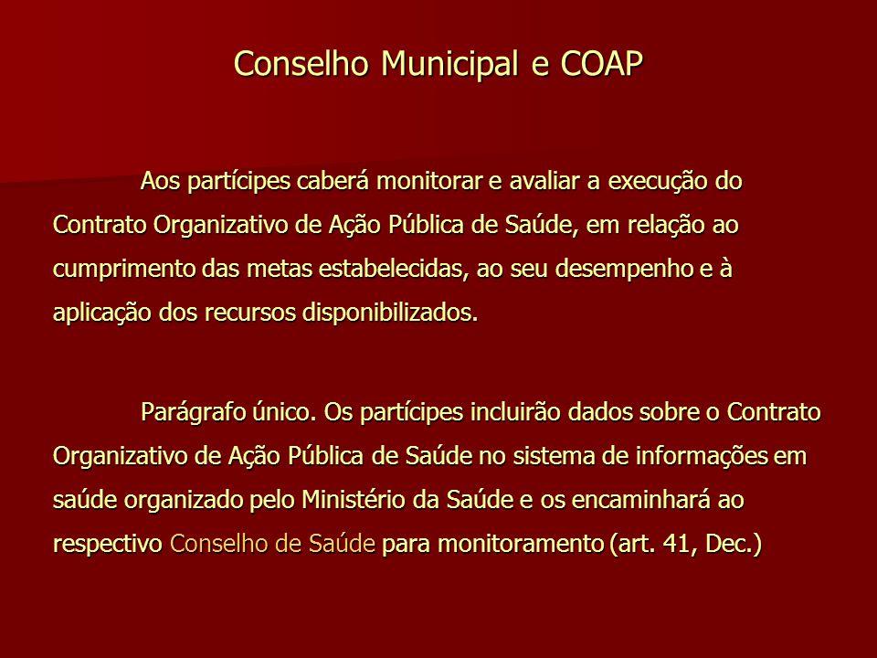 Conselho Municipal e COAP