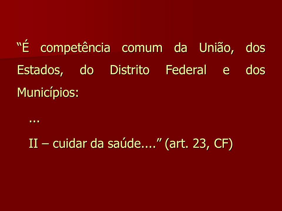 É competência comum da União, dos Estados, do Distrito Federal e dos Municípios: