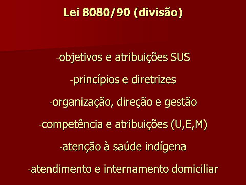 objetivos e atribuições SUS princípios e diretrizes