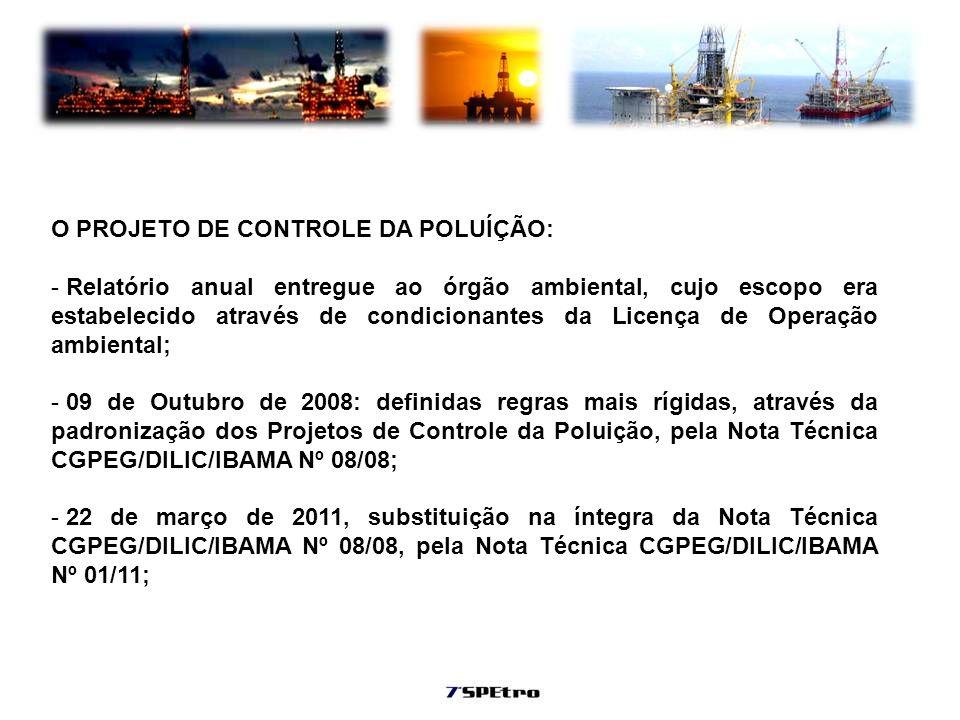 O PROJETO DE CONTROLE DA POLUÍÇÃO: