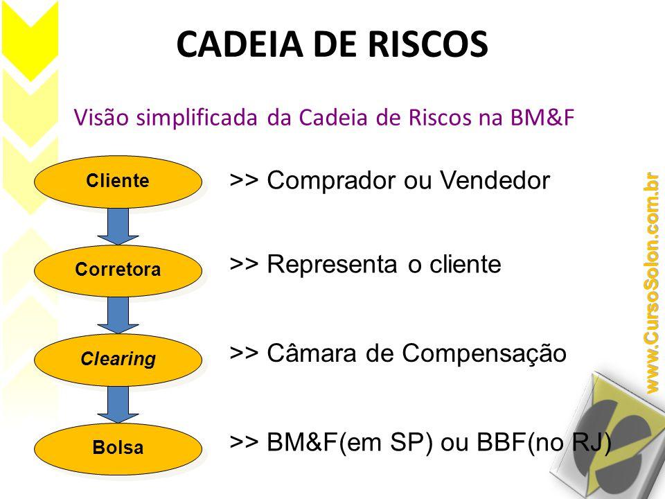 Visão simplificada da Cadeia de Riscos na BM&F