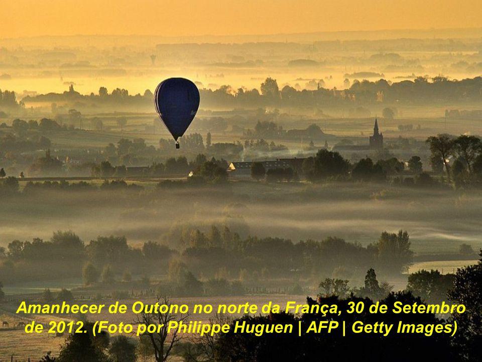 Amanhecer de Outono no norte da França, 30 de Setembro de 2012
