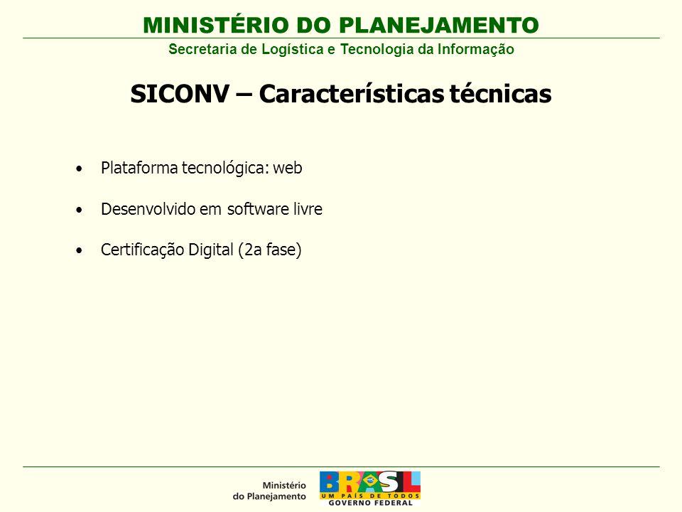 SICONV – Características técnicas