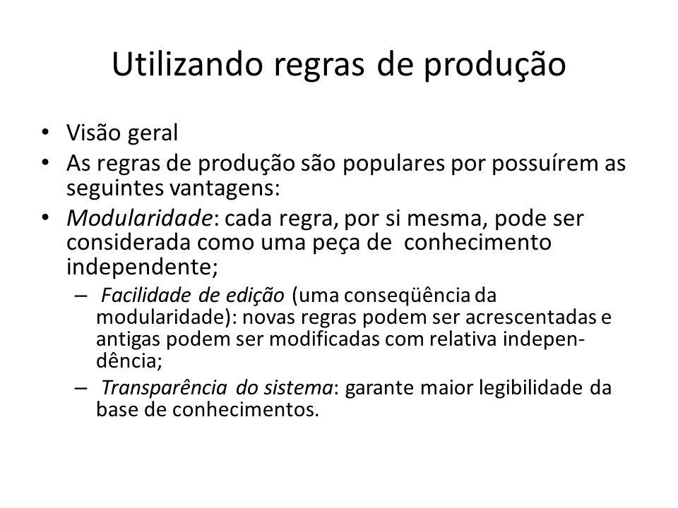 Utilizando regras de produção