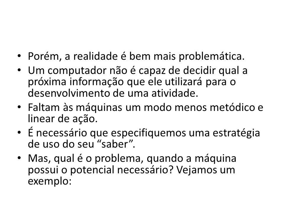 Porém, a realidade é bem mais problemática.