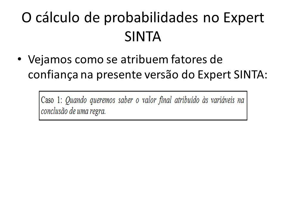 O cálculo de probabilidades no Expert SINTA
