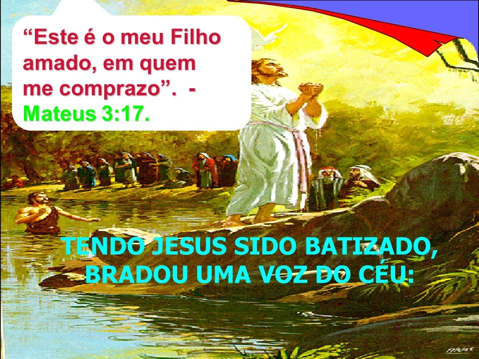 TENDO JESUS SIDO BATIZADO,